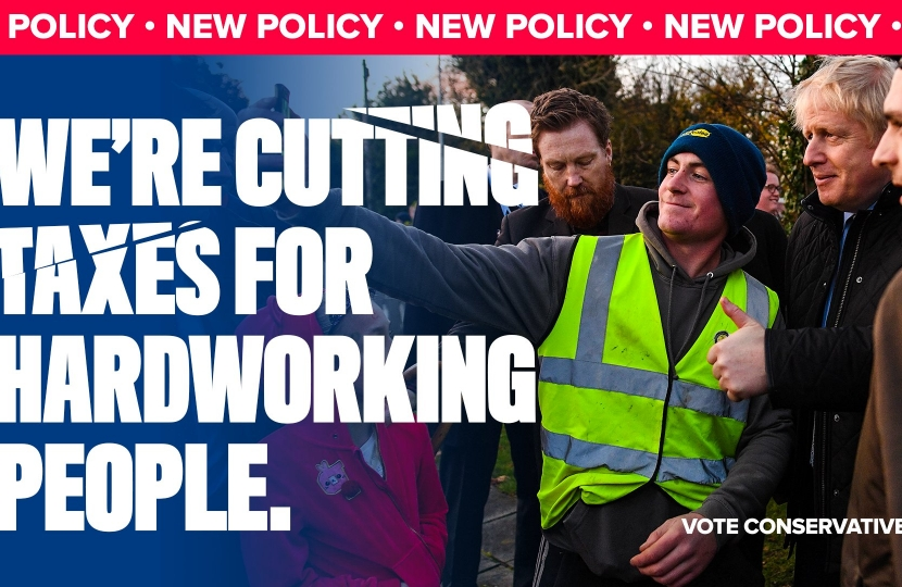 We're cutting taxes for hardworking people